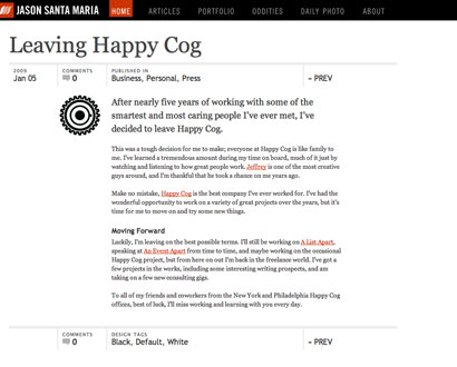 Leaving Happy Cog