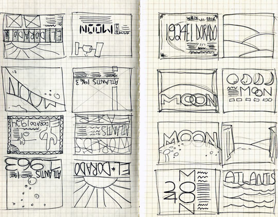 Sketches... from the Moon!